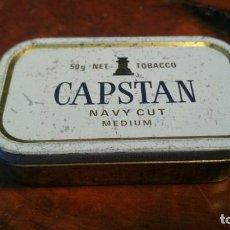 Paquetes de tabaco: CAJA CHAPA, CAPSTAN - NAVY CUT , MEDIDAS 9 X 13 X 2 CM. Lote 155975510