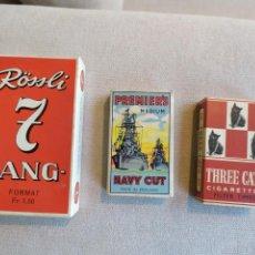 Paquetes de tabaco: LOTE 3ANTIGUAS CAJETILLAS. Lote 157358410