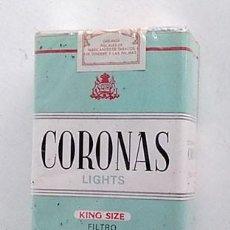 Paquetes de tabaco: ANTIGUO PAQUETE DE TABACO CORONAS, SIN ABRIR. Lote 204706946
