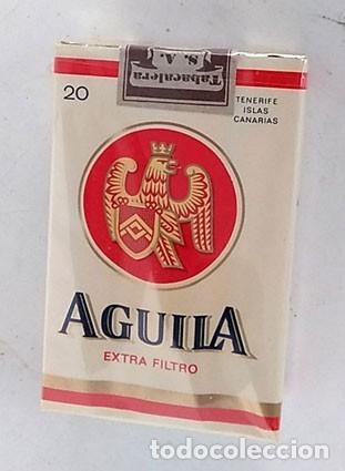 Paquetes de tabaco: ANTIGUO PAQUETE TABACO AGUILA, SIN ABRIR - Foto 2 - 158009922