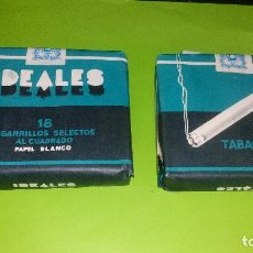 Paquetes de tabaco: PAQUETE DE TABAJO - IDEALES - 18 CIGARRILLOS SELECTOS AL CUADRADO - A ESTRENAR. Lote 158133270