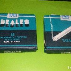 Paquetes de tabaco: PAQUETE DE TABAJO - IDEALES - 18 CIGARRILLOS SELECTOS AL CUADRADO - A ESTRENAR. Lote 158133582
