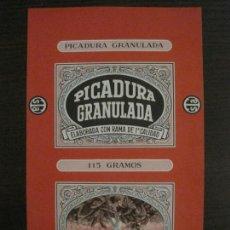 Paquetes de tabaco: PICADURA GRANULADA-TABACALERA S.A.-VER FOTOS-(V-16.260). Lote 158563698