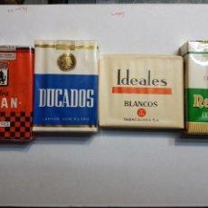 Paquetes de tabaco: PAQUETES DE TABACO ANTIGUOS LOTE 4 DISTINTOS. Lote 257507970