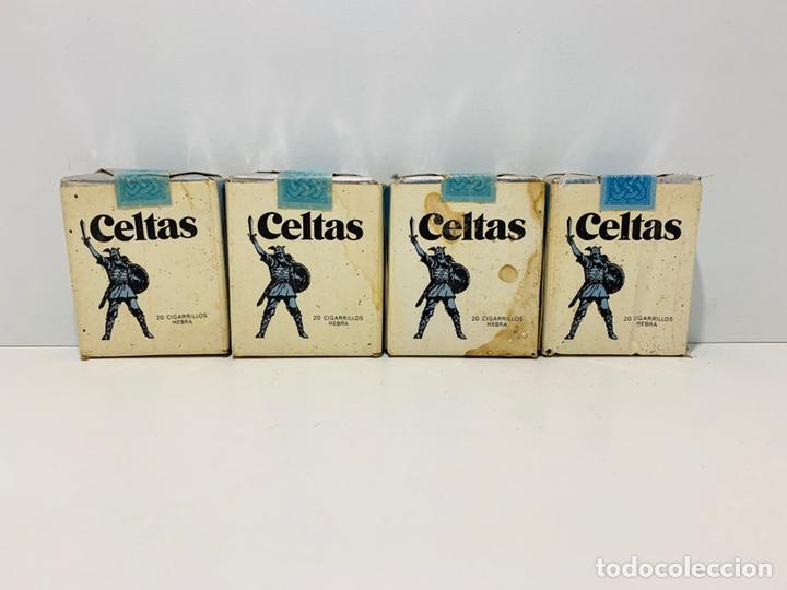 CUATRO PAQUETES DE CELTAS (Coleccionismo - Objetos para Fumar - Paquetes de tabaco)