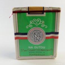 Paquetes de tabaco: ANTIGUO PAQUETE DE TABACO CIGARETTES NATIONALES, FRANCIA, CIGARRILLOS, LLENO SIN ABRIR.. Lote 160647844