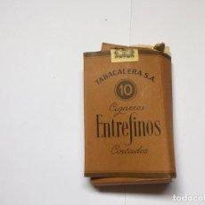 Paquetes de tabaco: ANTIGUA CAJETILLA 10 CIGARROS ENTREFINOS CORTADOS (TABACALERA) ¡COLECCIONISTA! ¡ORIGINAL!. Lote 160893938