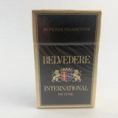 Paquetes de tabaco: PAQUETE DE TABACO BELVEDERE INTERNATIONAL DE LUXE, AUSTRIA, CIGARRILLOS LLENO SIN ABRIR.. Lote 161029844