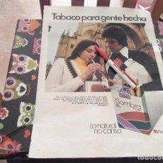 Paquets de cigarettes: ANTIGUO DOBLE ANUNCIO PUBLICIDAD PARA ENMARCAR PAQUETE DE TABACO SOMBRA Y PERFUME EVASION BOURJOIS . Lote 161908734