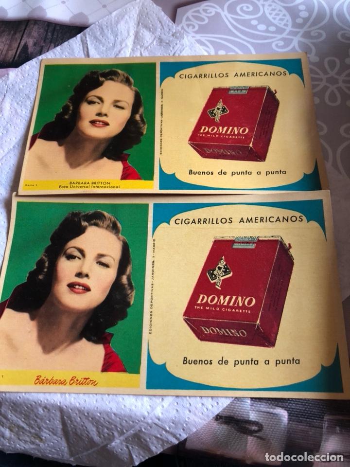 LOTE DE DOS CUARTILLAS CON PUBLICIDAD DE CIGARRILLOS DOMINÓ, RARAS (Coleccionismo - Objetos para Fumar - Paquetes de tabaco)