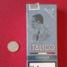 Paquetes de tabaco: RARO PAQUETE DE CIGARROS PUROS SIGARI VACÍO ITALICO ITALIA MADE IN ITALY CAJETILLA DURA, TABACO VER. Lote 162477506