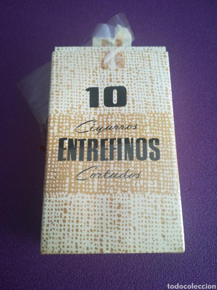 ANTIGUA CAJA DE CIGARROS ENTREFINOS CORTADOS CAJETILLA. (Coleccionismo - Objetos para Fumar - Paquetes de tabaco)