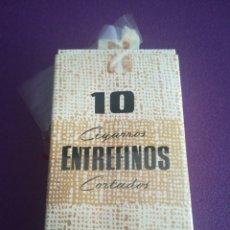 Paquetes de tabaco: ANTIGUA CAJA DE CIGARROS ENTREFINOS CORTADOS CAJETILLA.. Lote 162569100