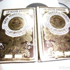 Paquetes de tabaco: MAGNIFICOS DOS PAQUETES DE PICADURA,LA NUEVA HABANA . Lote 162981394