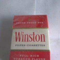 Paquetes de tabaco: PAQUETE TABACO WINSTON CEUTA Y MELILLA, AÑOS 80 PRECINTADO. Lote 163344356