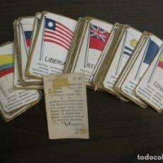 Paquetes de tabaco: BANDERAS-COLECCION DE 41 CROMOS-LA MASCOTA-DIEGO MORENO MIRANDA-TENERIFE-VER FOTOS-(V-16.915). Lote 163963006