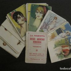 Paquetes de tabaco: MUJERES MODA-COL· COMPLETA 28 CROMOS-LA MASCOTA-DIEGO MORENO MIRANDA-TENERIFE-VER FOTOS-(V-16.918). Lote 163963530