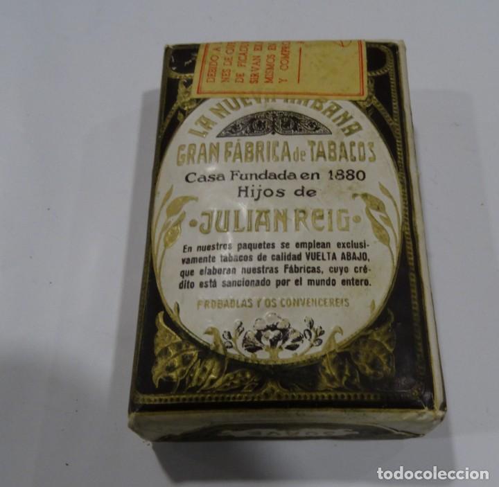 LA NUEVA HABANA GRAN FABRICA DE TABACOS CASA FUNDAD 1880. HIJOS DE JULIÁN REIG. (Coleccionismo - Objetos para Fumar - Paquetes de tabaco)