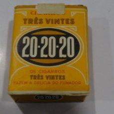 Paquetes de tabaco: TRES VINTES 20-20-20 PRECINTADO 20 CIGARRILLOS. 20 GRAMOS. Lote 165232622