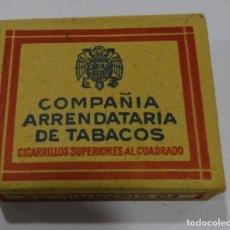 Paquetes de tabaco: COMPAÑIA ARRENDATARIA DE TABACOS CIGARRILLOS SUPERIORES AL CUADRADO. Lote 165239278
