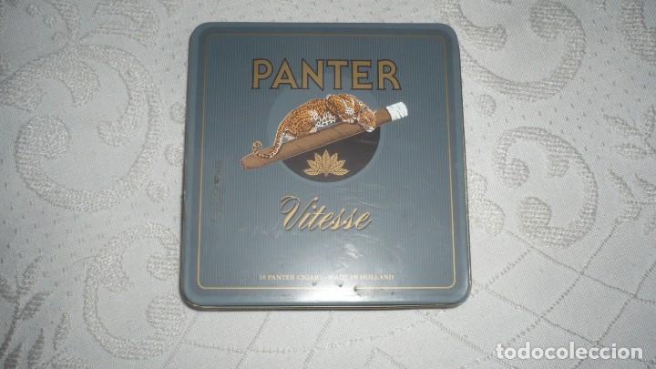 CAJA PANTER VITESSE DE CIGARROS DE METAL (Coleccionismo - Objetos para Fumar - Paquetes de tabaco)