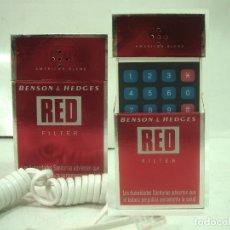 Paquetes de tabaco: RARO TELEFONO PAQUETE DE TABACO - BENSON & HEDGES RED FILTER -AÑOS 90 - CIGARROS . Lote 166864500