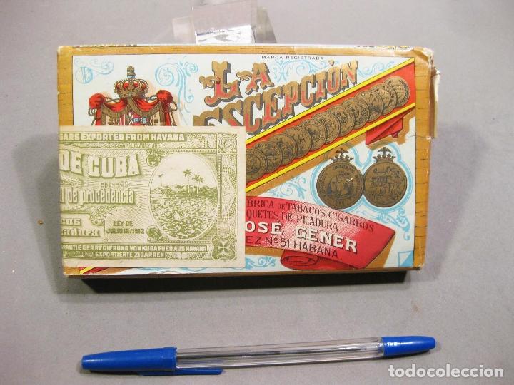 ANTIGUO PAQUETE DE TABACO LA ESCEPCIÓN - HABANA - PICADURA SELECTA EXTRAFINA - REPÚBLICA DE CUBA (Coleccionismo - Objetos para Fumar - Paquetes de tabaco)