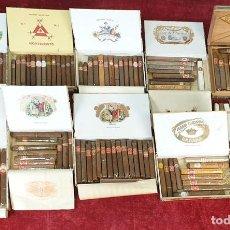 Paquetes de tabaco: COLECCIÓN DE CAJAS Y CIGARROS PUROS. VARIAS FABRICAS. LA HABANA. CUBA. SIGLO XX.. Lote 168790300