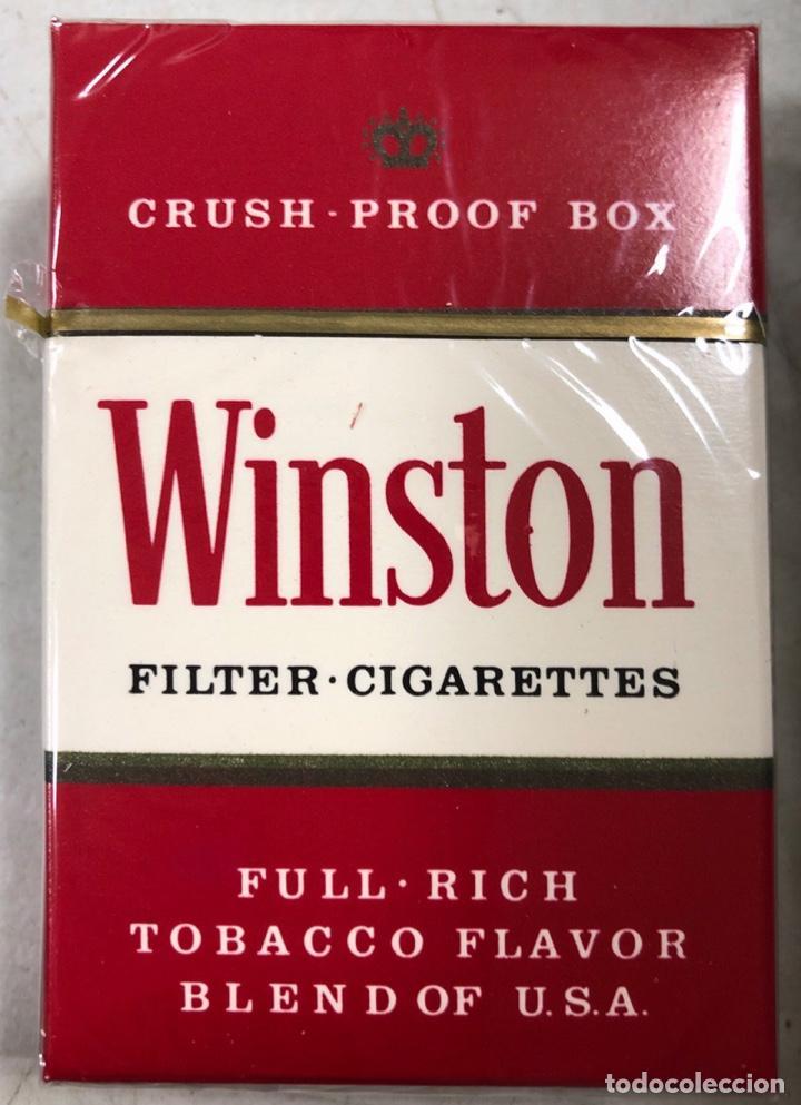 PAQUETE DE TABACO WINSTON. DECADA DE LOS 80. PRECINTADO. INCLUYE 20 CIGARROS. (Coleccionismo - Objetos para Fumar - Paquetes de tabaco)