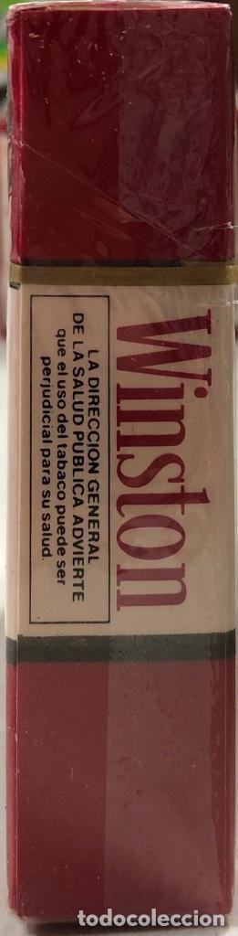 Paquetes de tabaco: PAQUETE DE TABACO WINSTON. DECADA DE LOS 80. PRECINTADO. INCLUYE 20 CIGARROS. - Foto 3 - 169853048