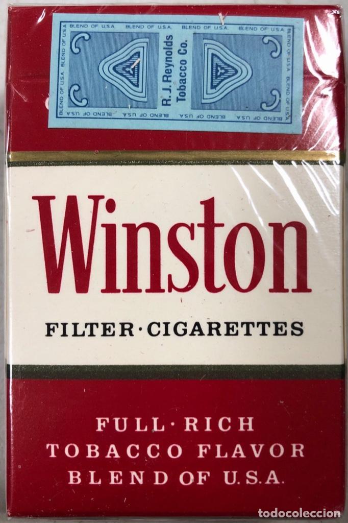 Paquetes de tabaco: PAQUETE DE TABACO WINSTON. DECADA DE LOS 80. PRECINTADO. INCLUYE 20 CIGARROS. - Foto 4 - 169853048