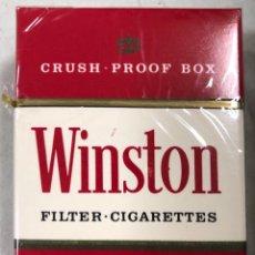 Paquetes de tabaco: PAQUETE DE TABACO WINSTON. DECADA DE LOS 80. PRECINTADO. INCLUYE 20 CIGARROS.. Lote 169853076