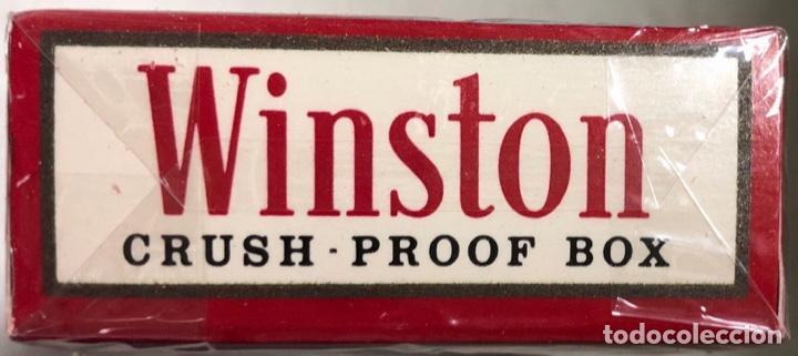 Paquetes de tabaco: PAQUETE DE TABACO WINSTON. DECADA DE LOS 80. PRECINTADO. INCLUYE 20 CIGARROS. - Foto 2 - 169853076