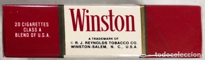 Paquetes de tabaco: PAQUETE DE TABACO WINSTON. DECADA DE LOS 80. PRECINTADO. INCLUYE 20 CIGARROS. - Foto 5 - 169853076