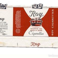 Paquetes de tabaco: CAJETILLA ROY CIGARRETTES · KENTUCKY - USA. SIN IMPUESTO. Lote 169923920
