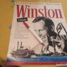 Paquets de cigarettes: ANTIGUO DOBLE ANUNCIO PUBLICIDAD TABACO WINSTON DIXIE Y COCHE ROVER SERIE 800. Lote 170258556