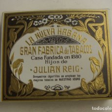 Paquetes de tabaco: PAQUETE DE TABACO LA NUEVA HABANA GRAN FABRICA DE TABACOS JULIAN REIG. REGIOS FILTRO.LLENO. Lote 171194128
