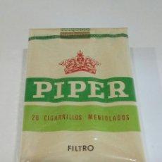 Paquetes de tabaco: PAQUETE DE TABACO PIPER MENTOLADO. Lote 171405865