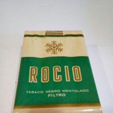 Paquetes de tabaco: PAQUETE DE TABACO ROCÍO NEGRO MENTOLADO. Lote 171406174