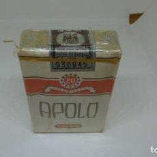 Paquetes de tabaco: ANTIGUO PAQUETE DE TABACO APOLO . CON PRECINTO. Lote 172464279