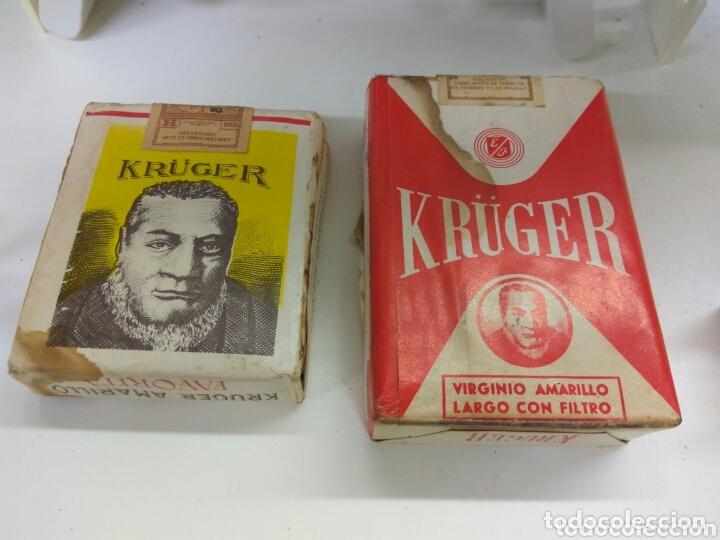 CAJETILLA TABACO KRUGER LOTE DE DOS (Coleccionismo - Objetos para Fumar - Paquetes de tabaco)
