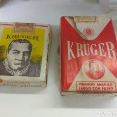 Paquetes de tabaco: CAJETILLA TABACO KRUGER LOTE DE DOS. Lote 172880699