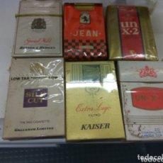Paquetes de tabaco: PAQUETE TABACO BENSON JEAN UN X 2. SILK CUT KAISER. Lote 172883719