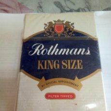 Paquetes de tabaco: PAQUETE DE TABACO ROTHMANS. Lote 173209335