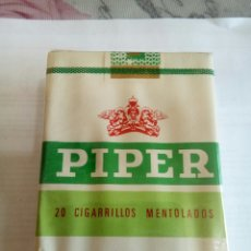 Paquetes de tabaco: PAQUETE DE TABACO PIPER MENTOLADO. Lote 173209549