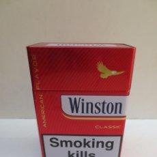 Paquetes de tabaco: CAJA METÁLICA WINSTON 18X13X7 CM. Lote 189736718
