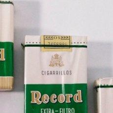 Paquetes de tabaco: ANTIGUO PAQUETE DE CIGARRILLOS RECORD, EXTRA- FILTRO.. Lote 173972082