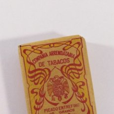 Paquetes de tabaco: TABACO: COMPAÑÍA ARRENDATARIA DE TABACOS, PICADO ENTREFINO.. Lote 173980115
