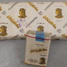 Paquetes de tabaco: CARTON DE TABACO CON CAJETILLAS DE CIGARRILLOS CLEOPATRA PRECINTADOS EGIPTO. Lote 174038140