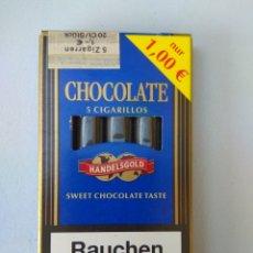 Paquetes de tabaco: CAJITA DE CIGARRILLOS HANDELSGOLD SABOR CHOCOLATE. Lote 174172592
